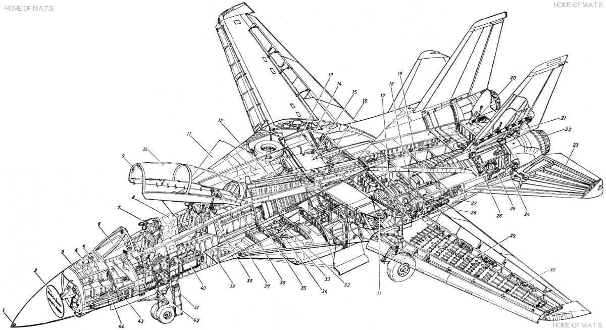F14 Detail Cutaway Xl on electrical links